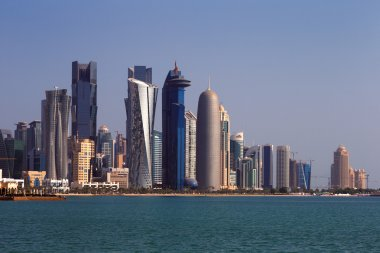 The West Bay City skyline of Doha, Qatar
