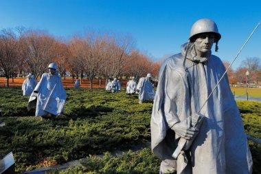 The Korean War Veterans Memorial in Washington DC, USA