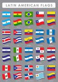 Latin-amerikai zászlók gyűjtemény