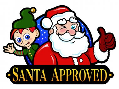 Santa Claus and Elf Approved Seal