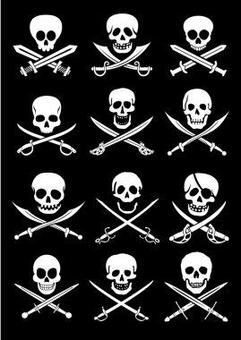Crossed Swords with Skulls
