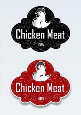 Chicken Meat Seal / Sticker in vectors