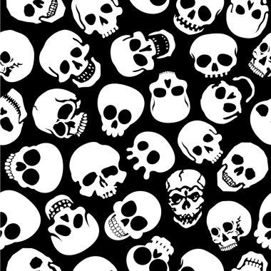 Skulls seamless patern