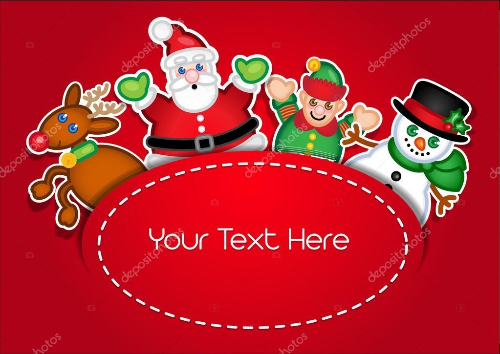 diseo de plantillas para tarjetas de Navidad Archivo Imgenes