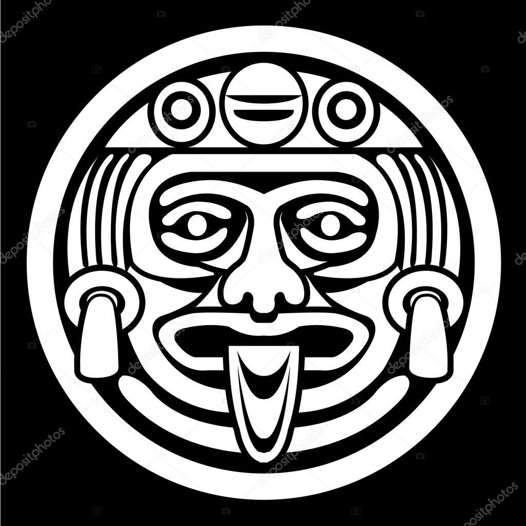 Aztec face mask