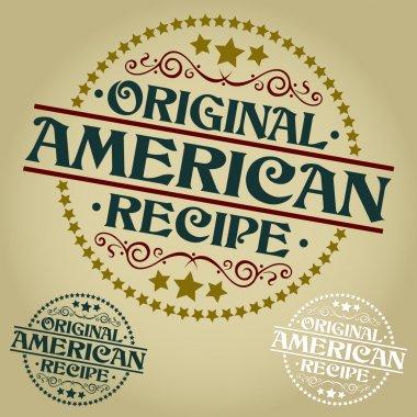Original American Recipe Seal or Badge
