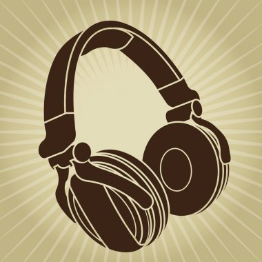 Retro Styled Headphone Illustration
