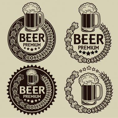 Retro Styled Beer Seals or Labels