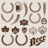 Fotografie pivo ingredience ornamentální