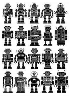 Vintage Tin Toy Robot Collection