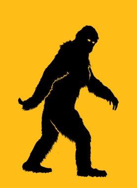 Bigfoot Silhouette Illustration