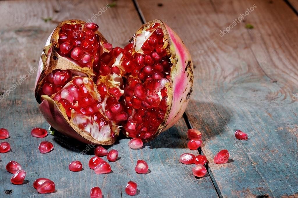 sweet pomegranate seeds