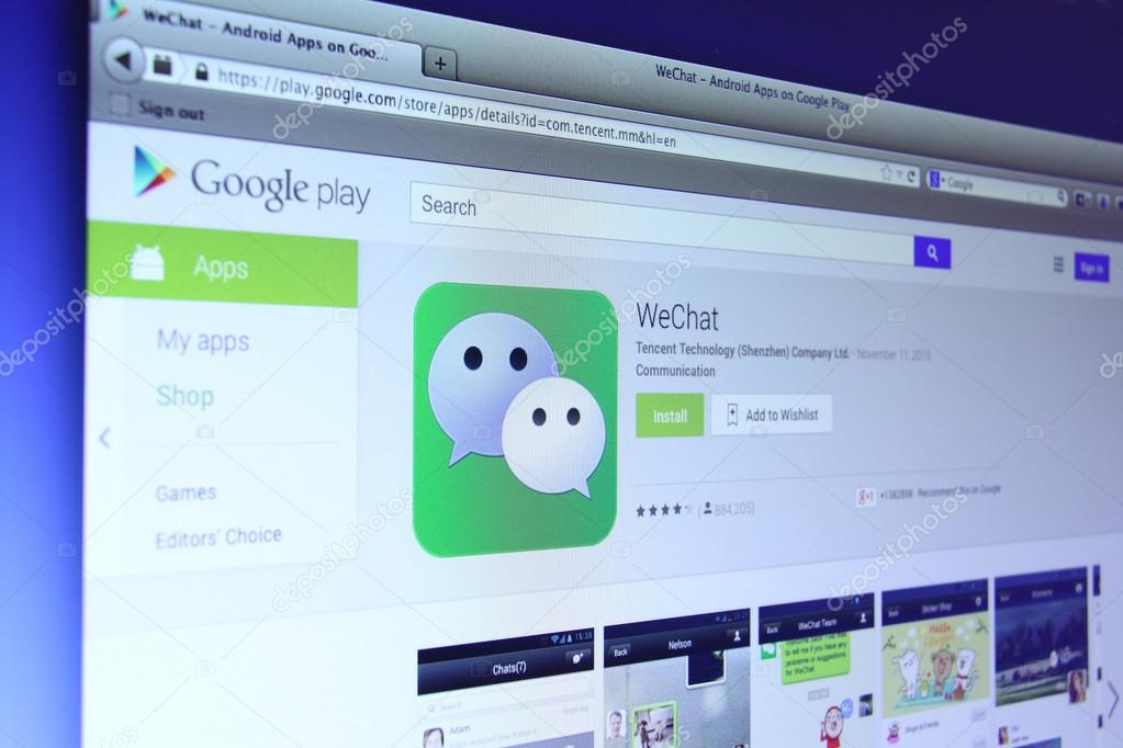 WeChat App on Google Play – Stock Editorial Photo © dolphfynlow