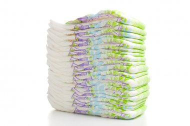 Diapers over white