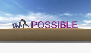 Make it possible. Motivational concept
