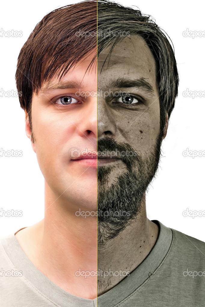 Joven asiático afeitado