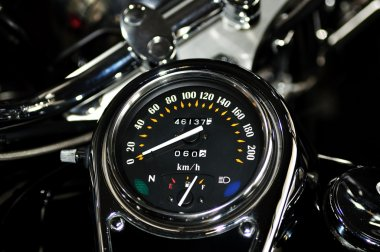 Tachometer from Harley Davidson motorcycle.