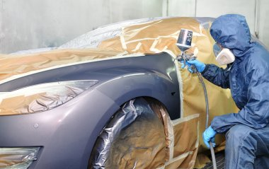 Professional car painting.