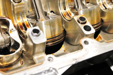 Engine pistons.