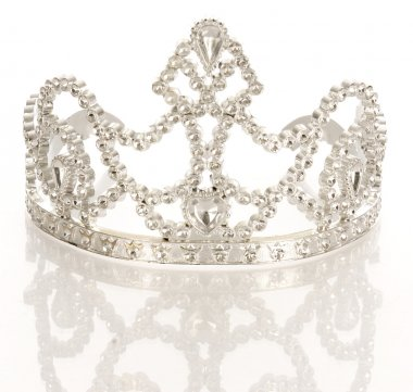 crown or tiara isolated