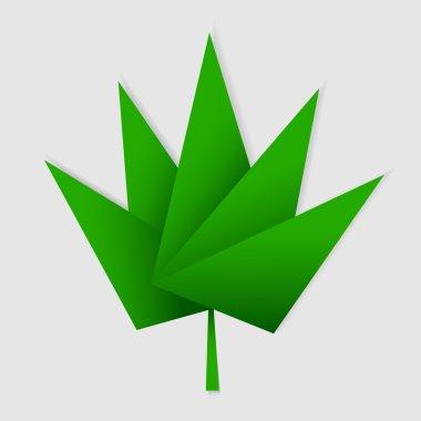 origami green leaf