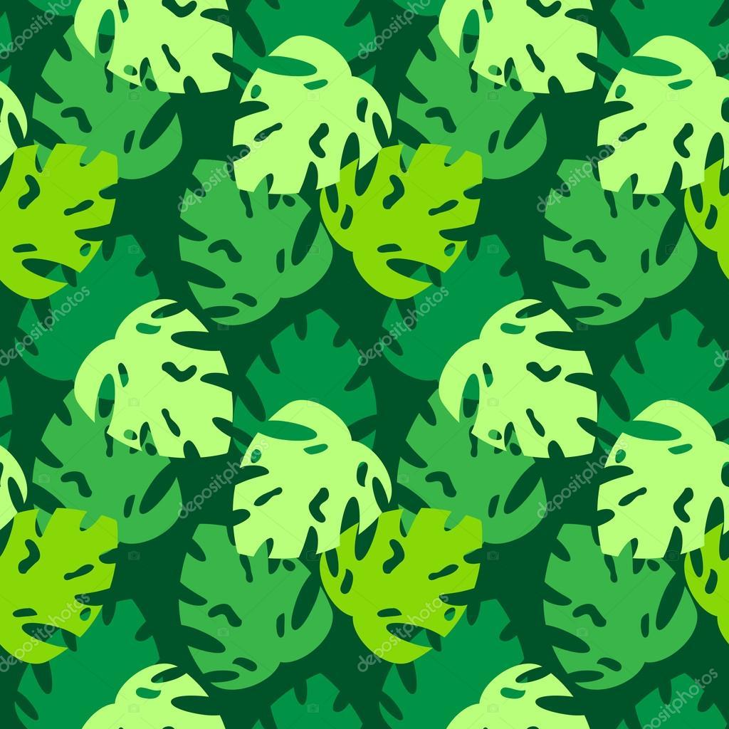 monstera leaves pattern green