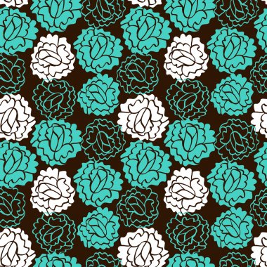 Rose brown pattern