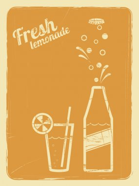 Lemonade retro poster orange