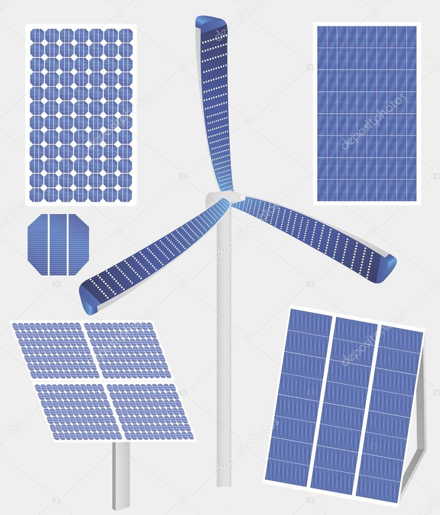 of solar panels — Stock Vector #25213265