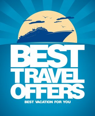 Best travel offers design template.