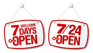 7 Days Open signs