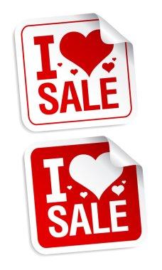 I love sale stickers.