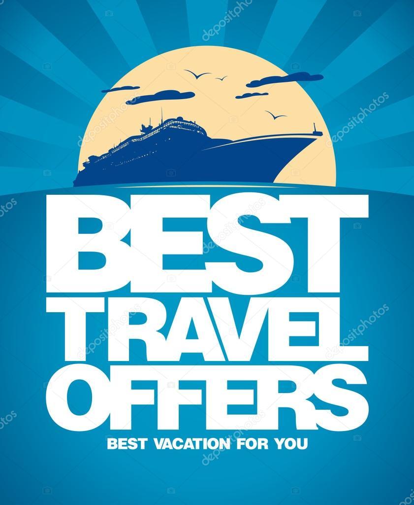 Best travel offers design template.