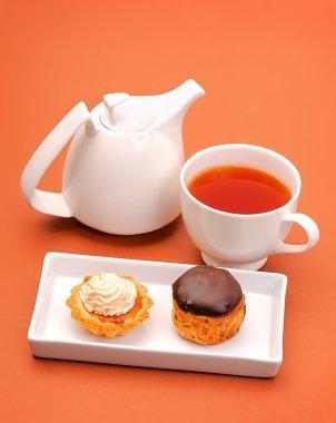 Cakes with tea