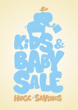Kids sale design template.