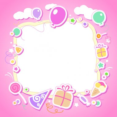 Template for baby's photo album.