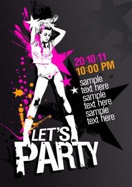 Lets Party design template.