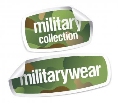 Military wear collection stickers