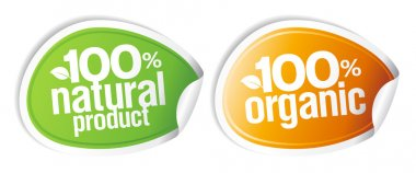 100 percents natural product stickers.