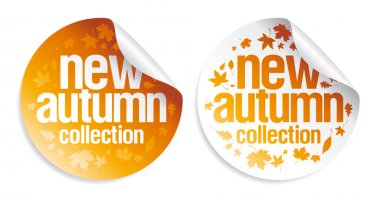 New autumn collection stickers.