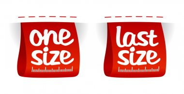 Size clothing labels.