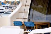 Fotografie Ansicht der hintere Teil einer Yacht