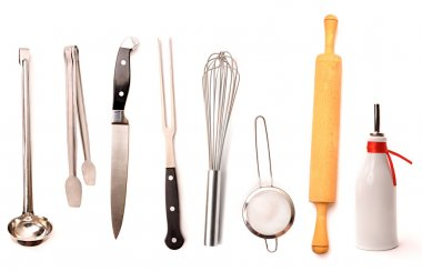 Set of high quality kitchen utensils