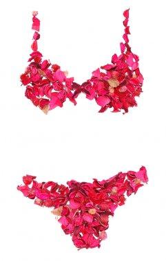 lingerie made of petals
