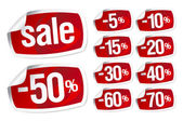 Fotografie red stickers for discount sale