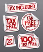 Steuerfrei einkaufen Aufkleber