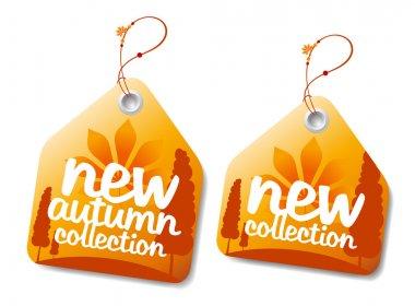 Autumn collection labels.
