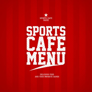 Sports Cafe Menu card design template. clip art vector