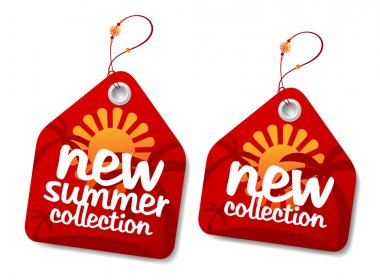 Summer collection labels.
