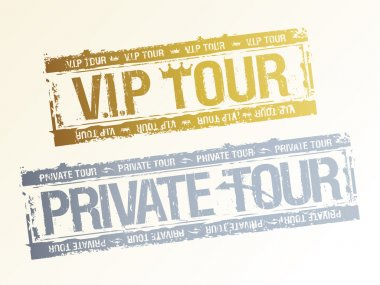 Private VIP tour stamps.